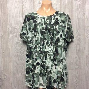 Green Printed Blouse